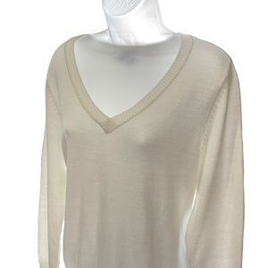 ONE A V-neck sweater XL ribbed bottom band